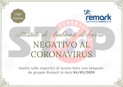 Attestato_Ambiente_Negativo_Coronavirus